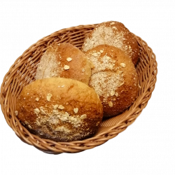 Wholewheat hamburger buns (4) made from wholewheat flour, flour, soy milk, flax seed, oats, yeast and raw sugar. Pairs well with veggie burgers.